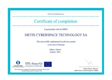 METIS completes a 5-year strategic business plan in collaboration with EBRD